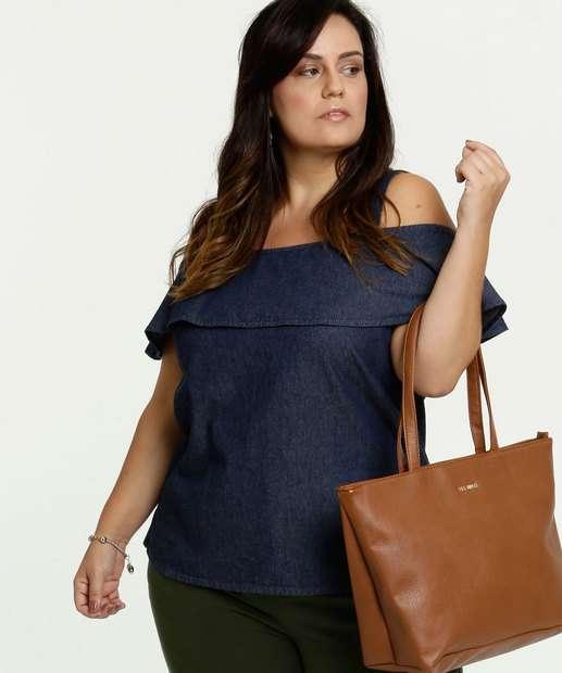 Image_Blusa Jeans Feminina Open Shoulder Plus Size Marisa