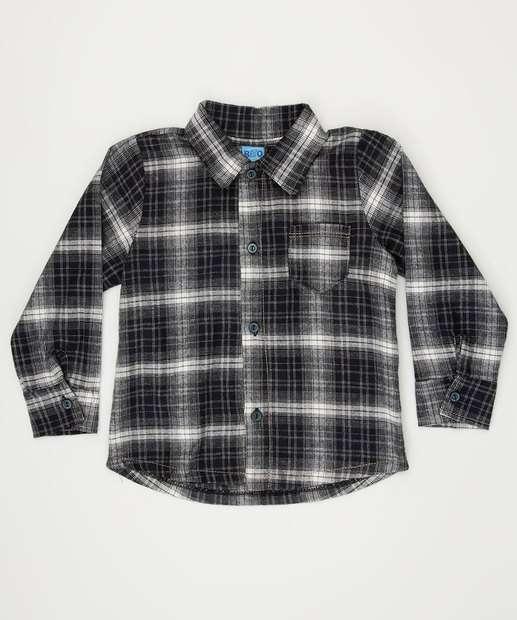 Image_Camisa Infantil Estampa Xadrez Manga Longa