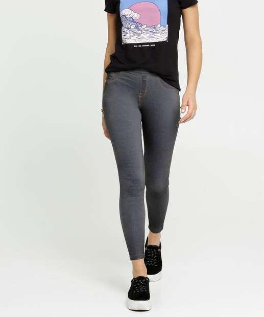 Image_Calça Feminina Jegging Bolsos Zune Jeans