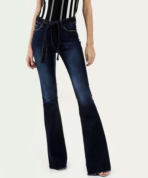 Image_Calça Feminina Flare Barra Desfiada Five Jeans
