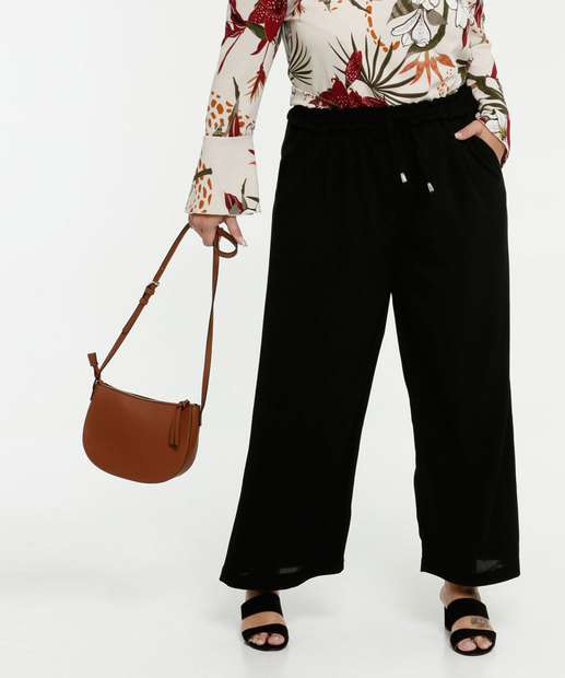 Image_Calça Feminina Pantalona Chiffon Plus Size Marisa