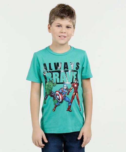 Image_ Camiseta Infantil Estampa Super Heróis Marvel