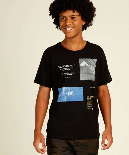 Image_Camiseta Juvenil Manga Curta Estampada MR Tam 10 a 16