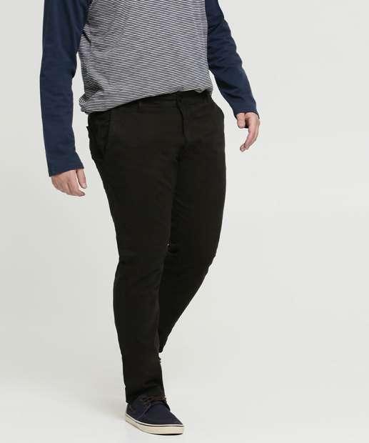 Image_Calça Masculina Sarja Skinny Plus Size Zune Jeans