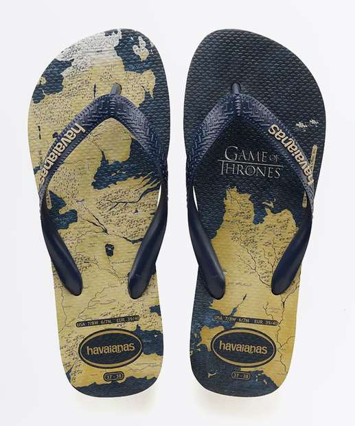 76b8ae9c9b Chinelo Masculino Game Of Thrones Havaianas