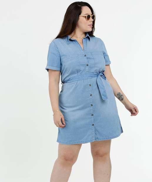 Image_Vestido Feminino Jeans Chemise Plus Size Marisa