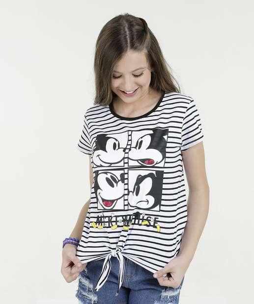 Image_Blusa juvenil Listrada Estampa Mickey Disney
