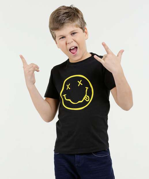 Image_Camiseta Infantil Estampa Nirvana Manga Curta Marisa