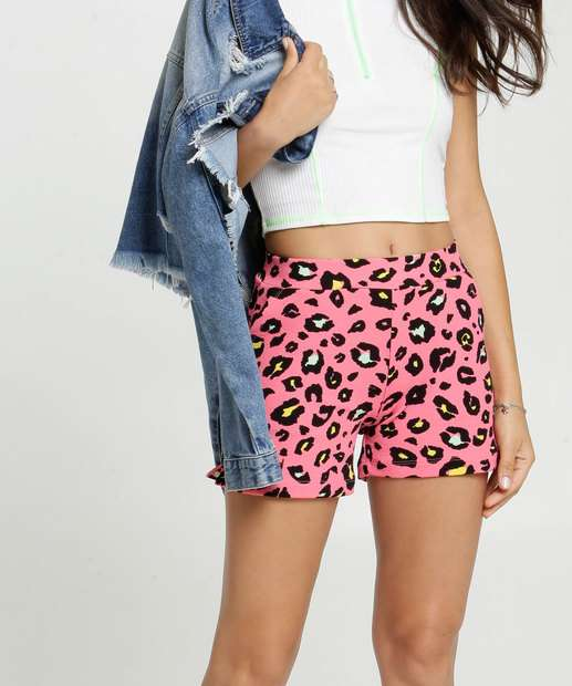 Image_Short Feminino Crepe Estampa Animal Print