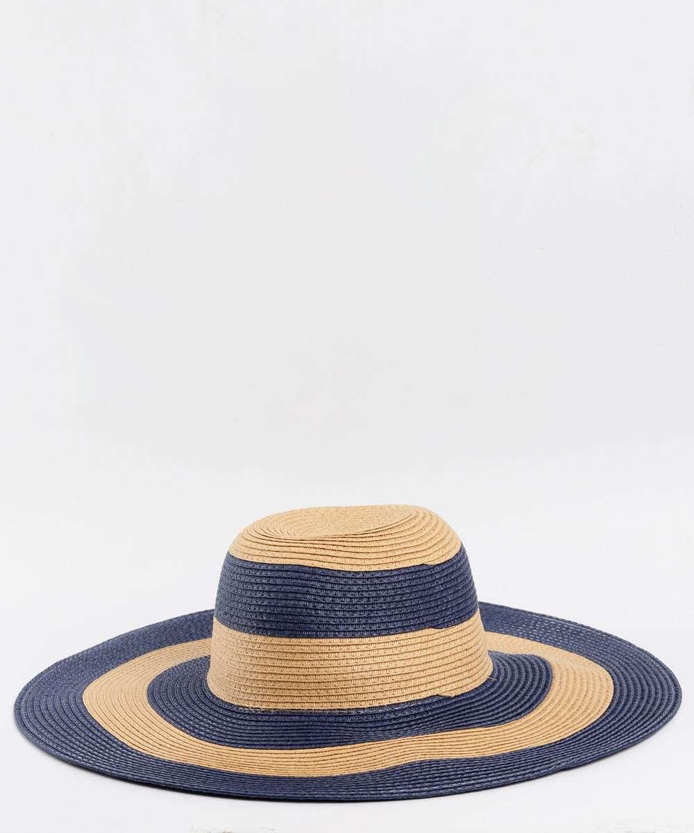 Chapéu de Praia Feminino Listrado Marisa  780054f18d7
