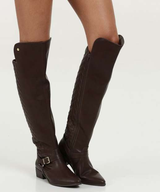 a20c986b2 Bota Feminina Over The Knee Via Marte