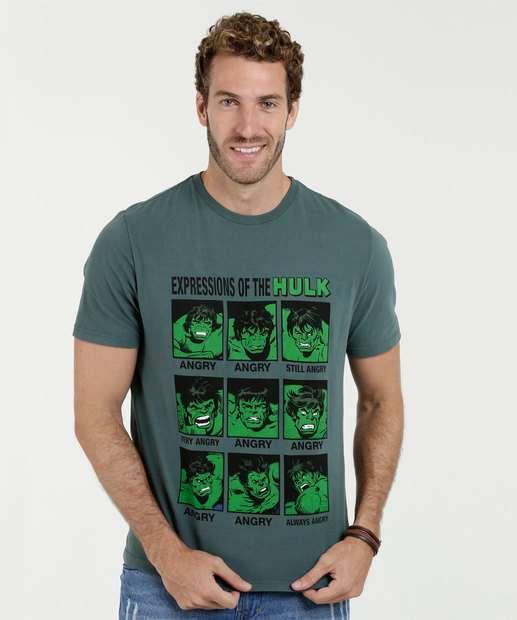 Image_Camiseta Masculina Estampa Hulk Manga Curta Marvel
