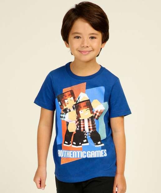 Image_Camiseta Infantil  Authentic Games Tam 4 a 10