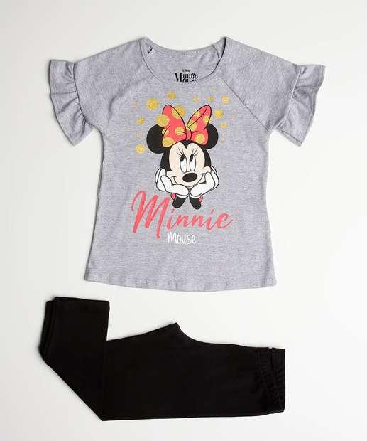Image_Conjunto Infantil Estampa Minnie Glitter Manga Curta Disney