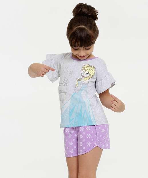 Image_Pijama Infantil Estampa Frozen Manga Curta Disney