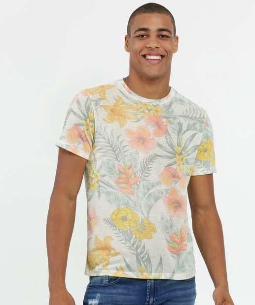Image_Camiseta Masculina Estampa Tropical Manga Curta MR