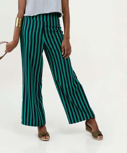 Image_Calça Feminina Listrada Pantalona Marisa