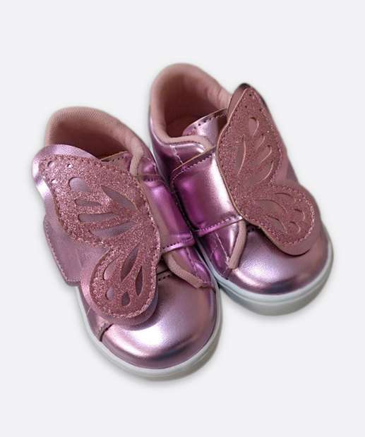 Image_Tênis Infantil Casual Borboleta Glitter Marisa