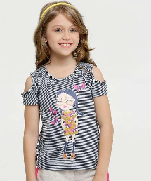 Image_Blusa Infantil Estampa Menina Open Shoulder Marisa