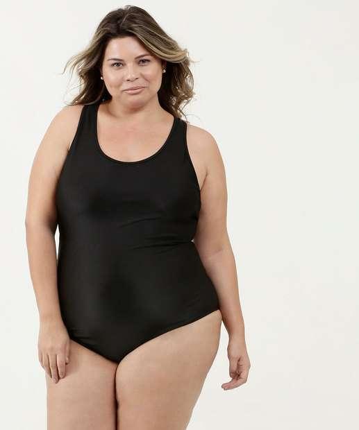 6bcaac157610 Maiô Feminino Cruzado Plus Size Alças Finas Marisa
