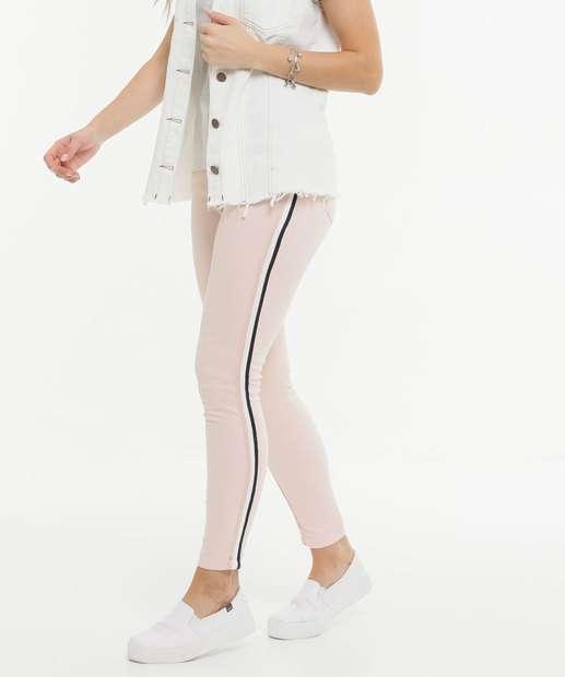 Image_Calça Skinny Feminina Sarja Recorte Zune Jeans