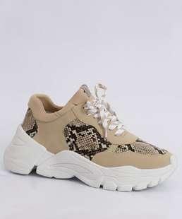Tênis Feminino Chunky Sneaker Estampa Animal Print