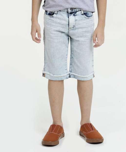 Image_Bermuda Infantil Jeans Delavê Marisa