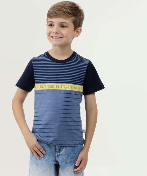 Image_Camiseta Infantil Listrada Manga Curta