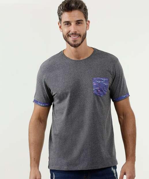 Image_Camiseta Masculina Bolso Manga Curta MR
