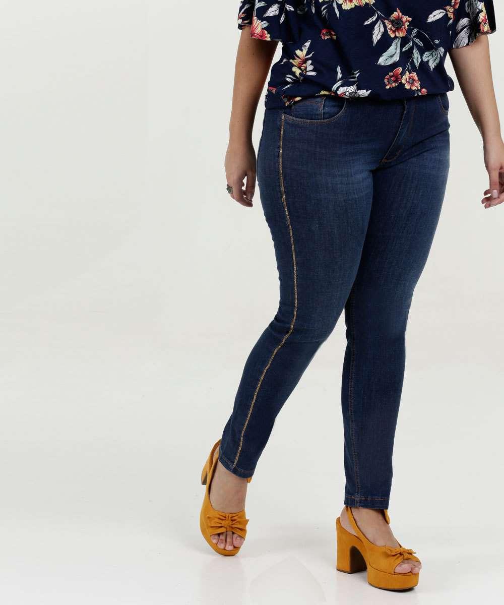 Calça Feminina Skinny Viés Plus Size Razon