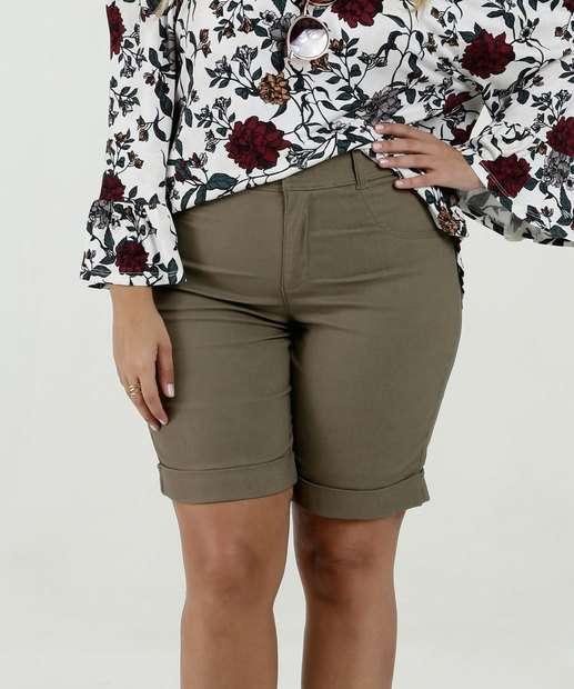 a44daffd8c Bermuda Feminina Bengaline Plus Size Marisa