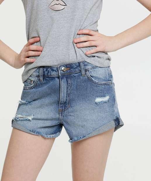 Image_Short Juvenil Jeans Destroyed Marisa Tam 10 a 16