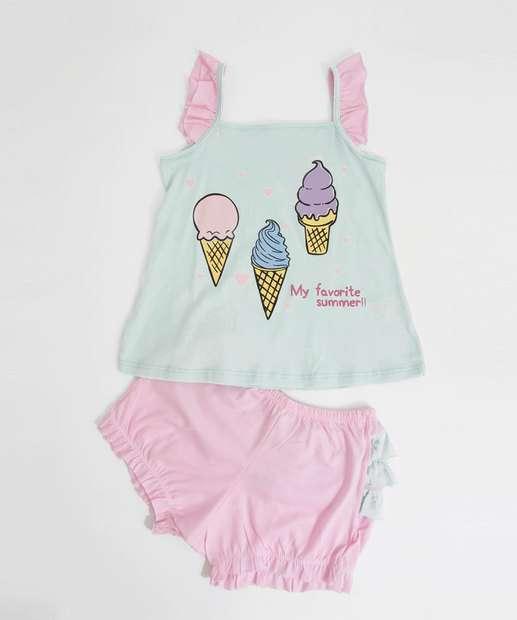 Image_Pijama Infantil Estampa Sorvete