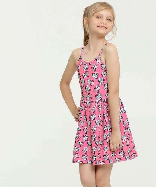 Image_Vestido Infantil Estampa Minnie Alças Finas Disney