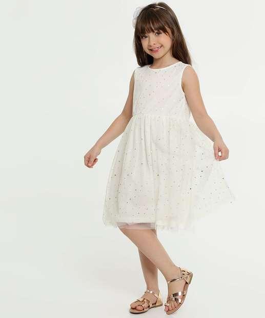 Image_Vestido Infantil Tule Estampa Estrelas Sem Manga Marisa