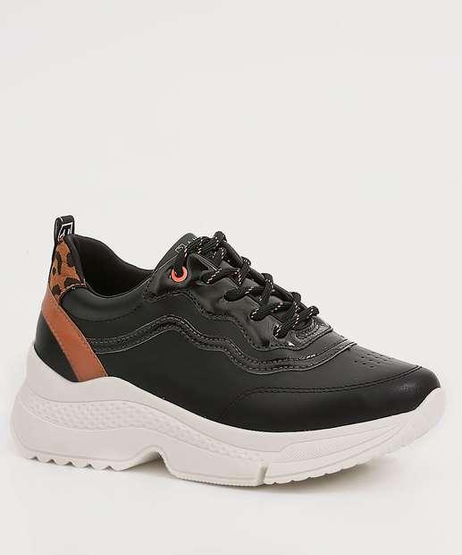Image_Tênis Feminino Chunky Sneaker Recorte Estampado Ramarim