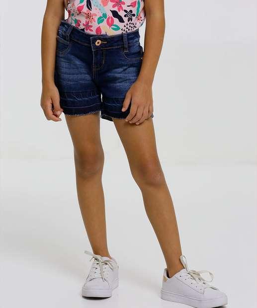 Image_Short Infantil Jeans Barra Desfiada Tam 4 a 8