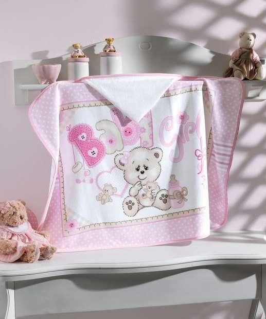 Image_Toalha de Banho Infantil Capuz Baby Girl Döhler