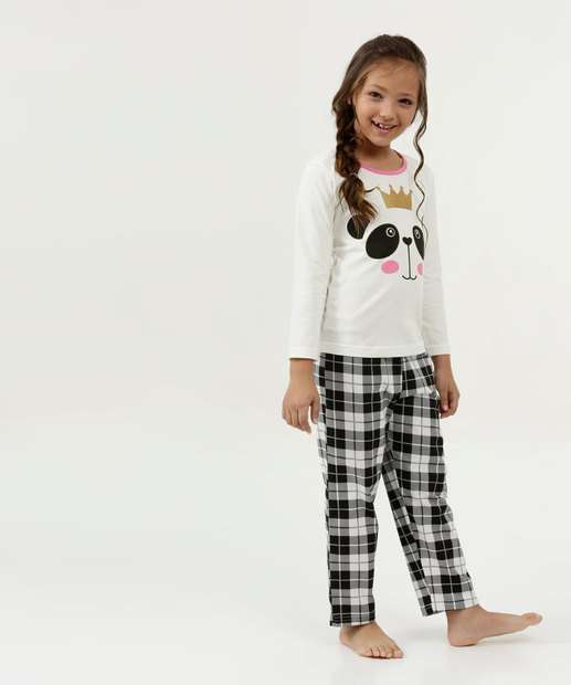 Image_Pijama Infantil Estampa Panda Manga Longa DeMillus