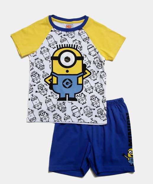 Image_Pijama Infantil Estampa Minions Manga Curta Universal