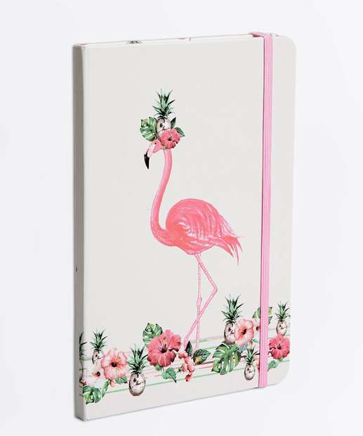 Image_Caderneta Anotações Estampa Flamingo Marisa