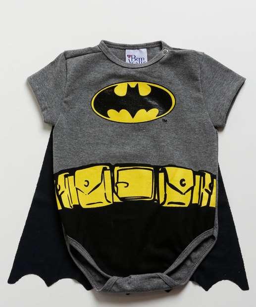Image_Body Infantil Bebê Estampa Batman Capa Manga Curta