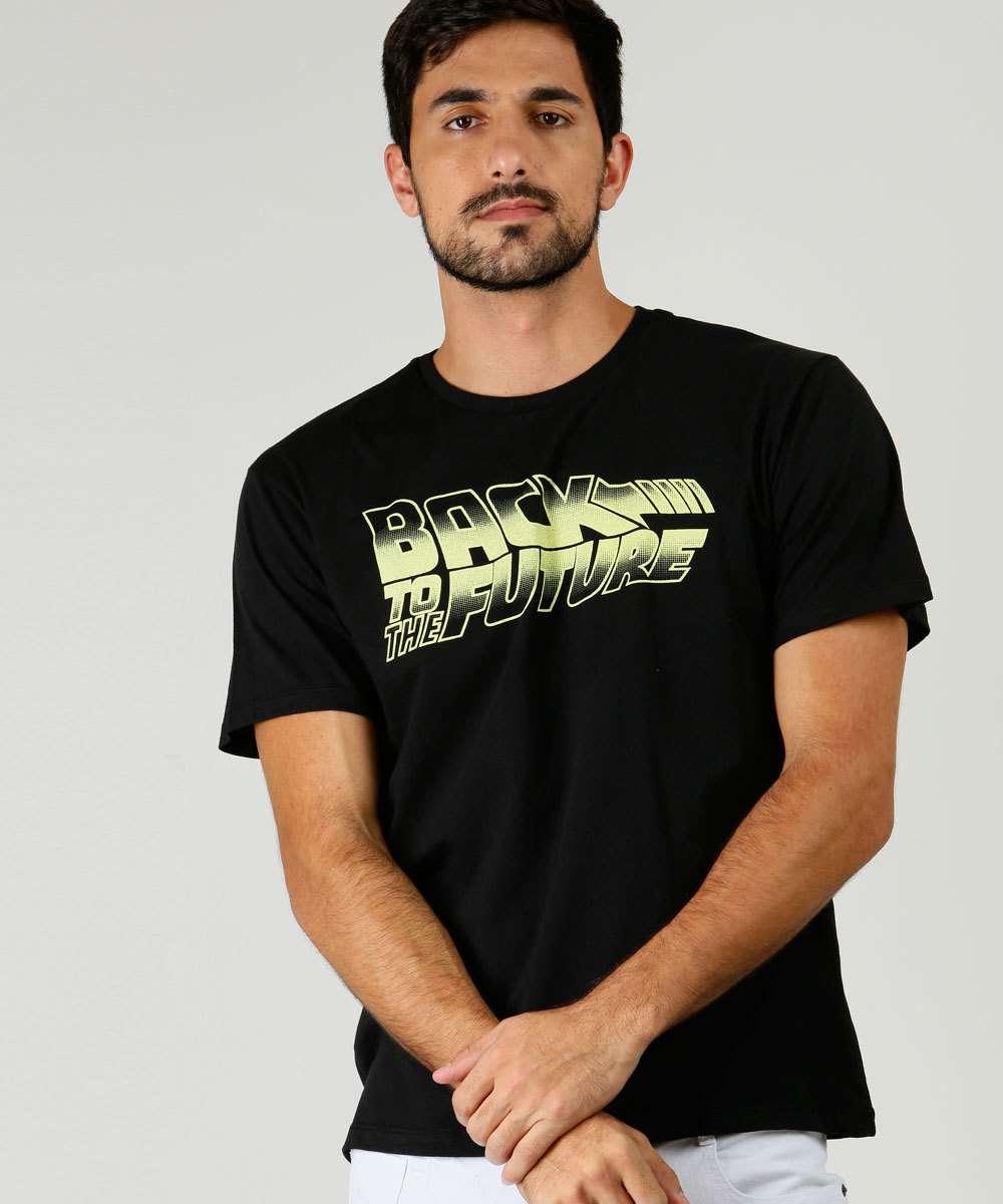 Camiseta Masculina De Volta Para O Futuro Universal
