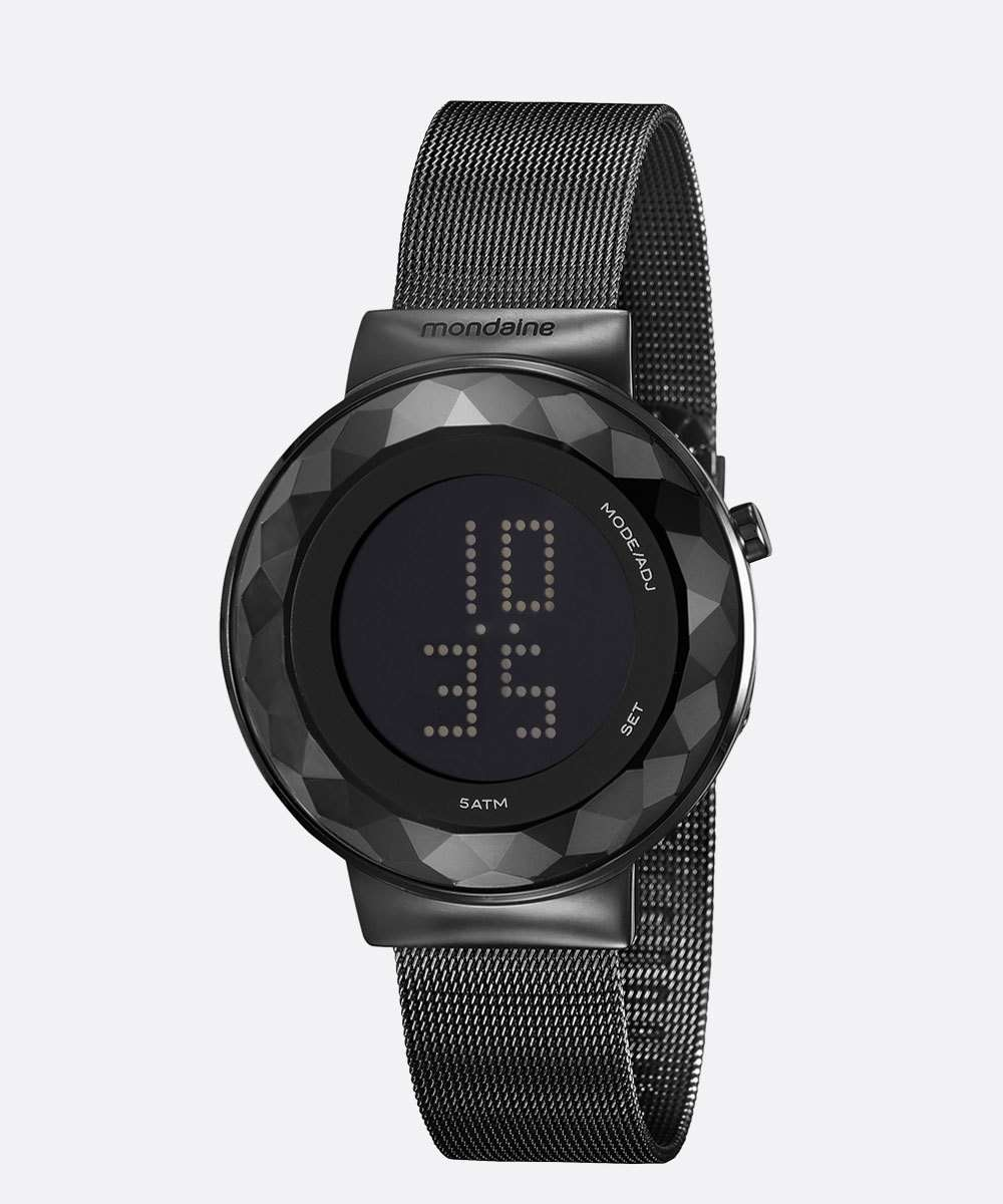 Relógio Feminino Digital Led Mondaine 32006LPMVPE3