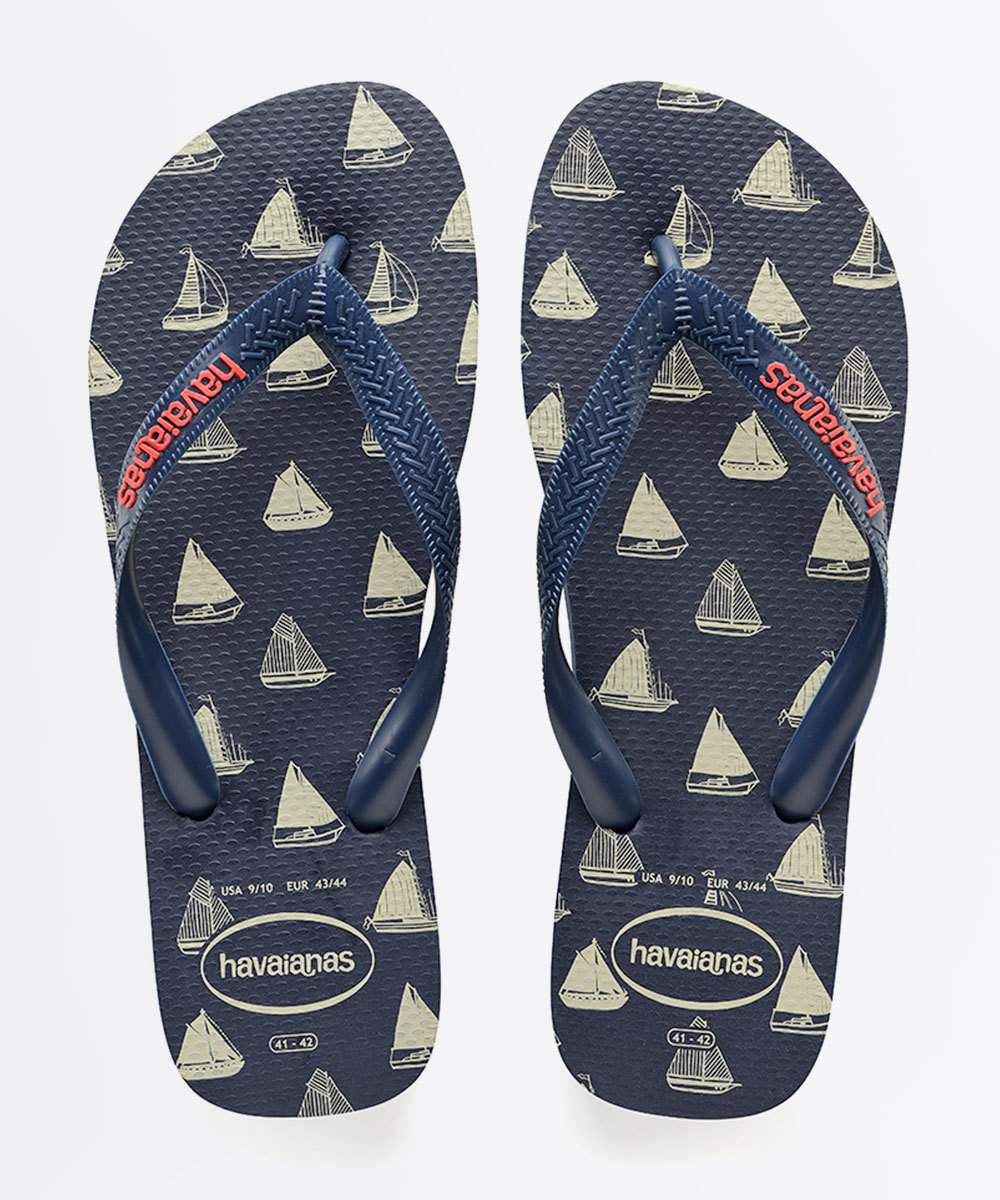 Chinelo Masculino Estampada Top Nautical Havaianas 4368