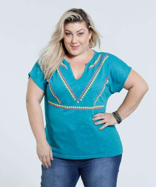 Image_Blusa Feminina Plus Size Estampa Frontal Marisa
