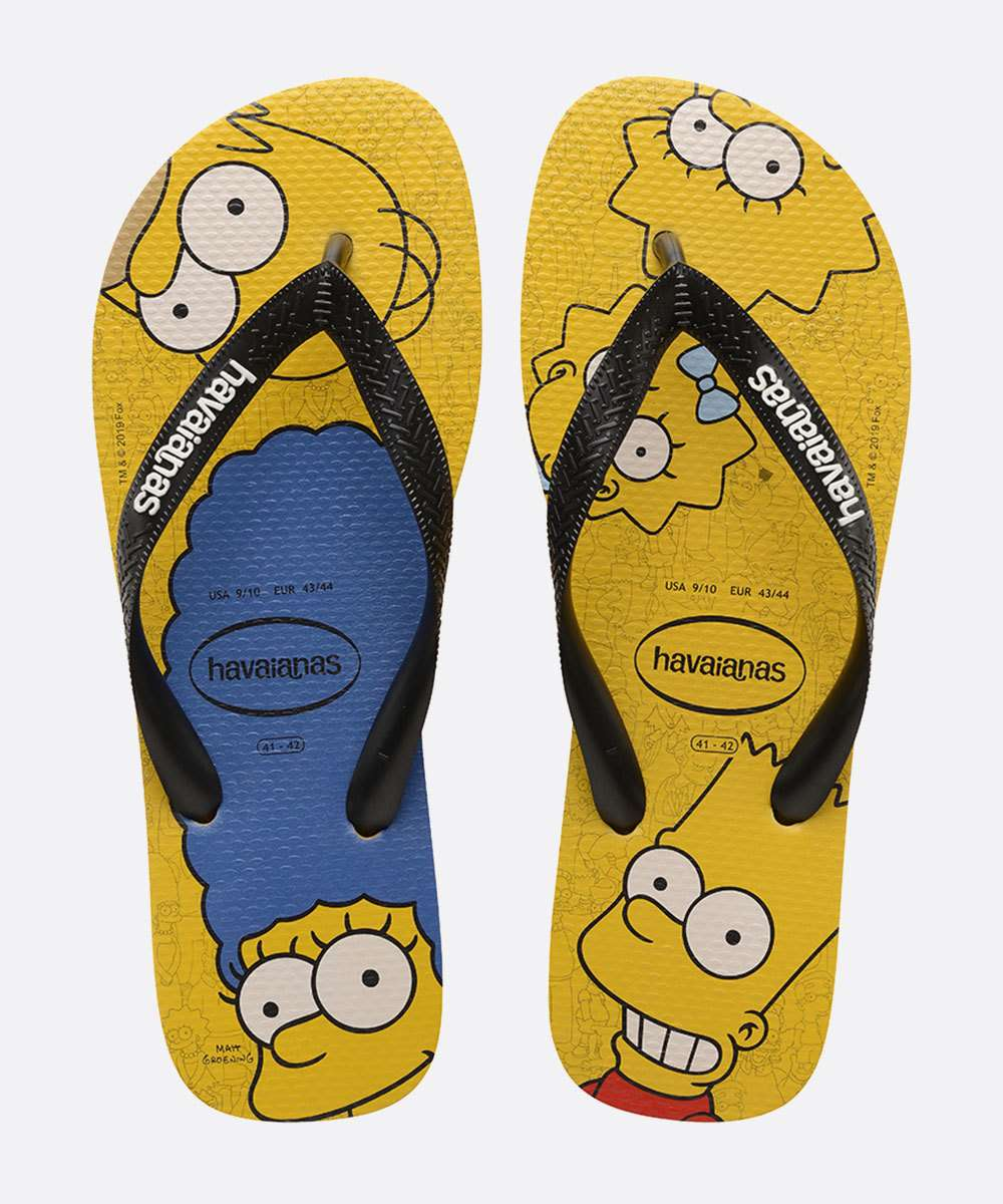 Chinelo Havaianas Masculino Estampa Simpsons