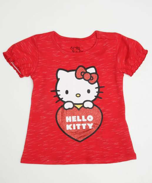 Image_Blusa Infantil Flamê Estampa Hello Kitty Sanrio