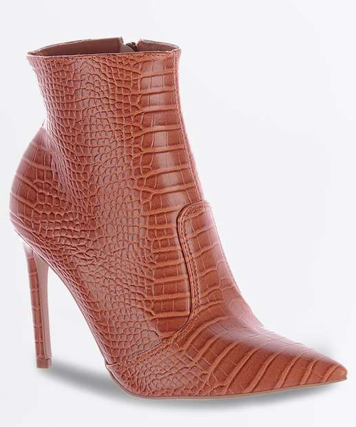 Image_Bota Feminina Ankle Boot Textura Croco Salto Fino Zatz