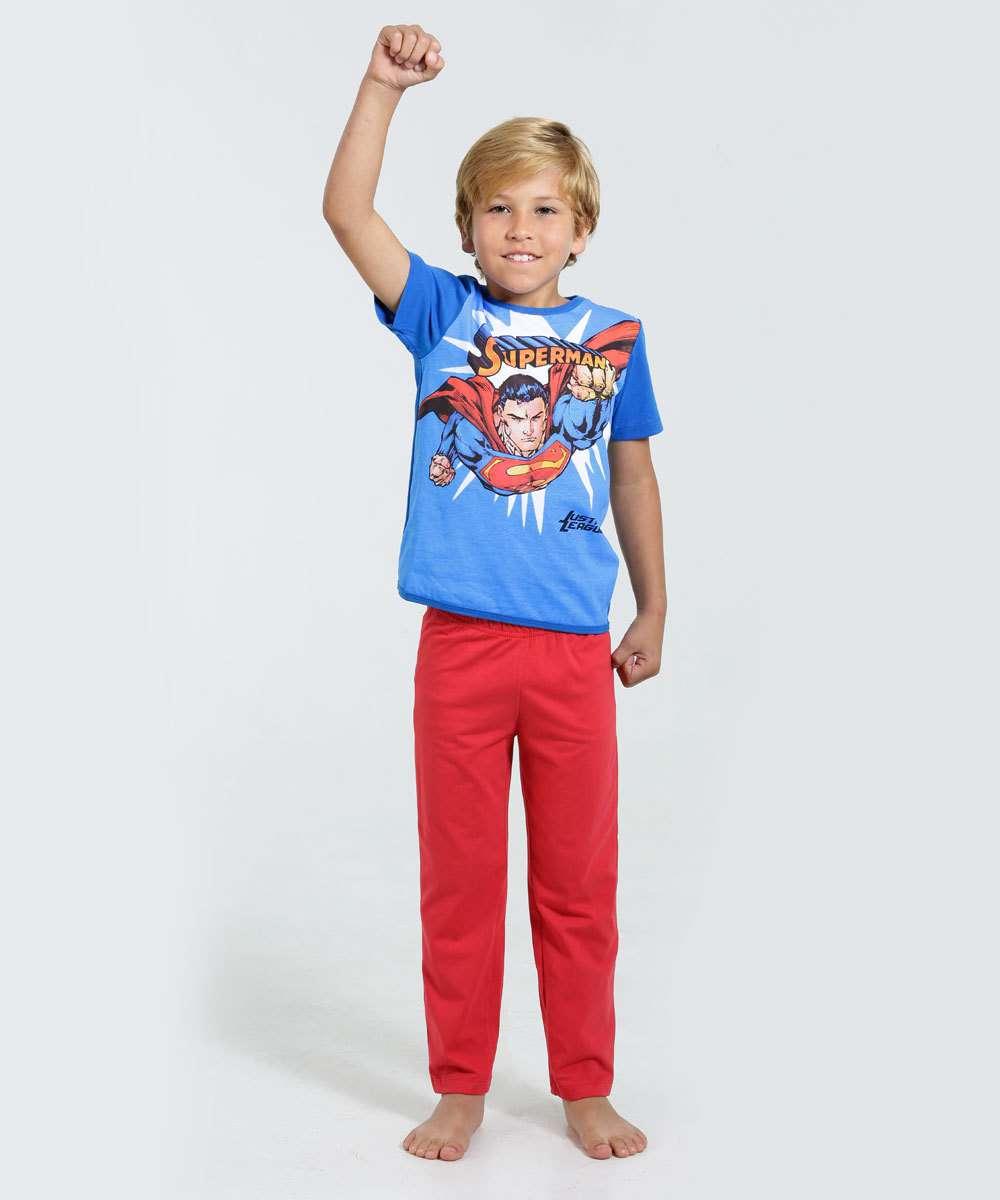 6cd682cb5 Pijama Infantil Super Homem Liga da Justiça